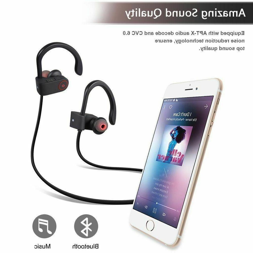 Sweatproof Wireless Sports Earphones Earbuds Headset