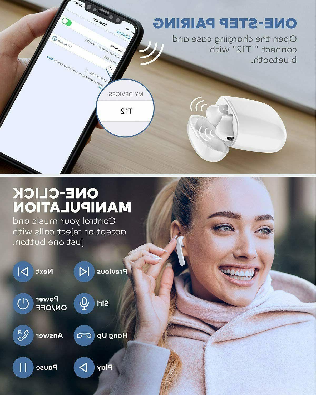 T12 TWS Wireless Bluetooth 5.0 True HD Stereo 35H Playtime