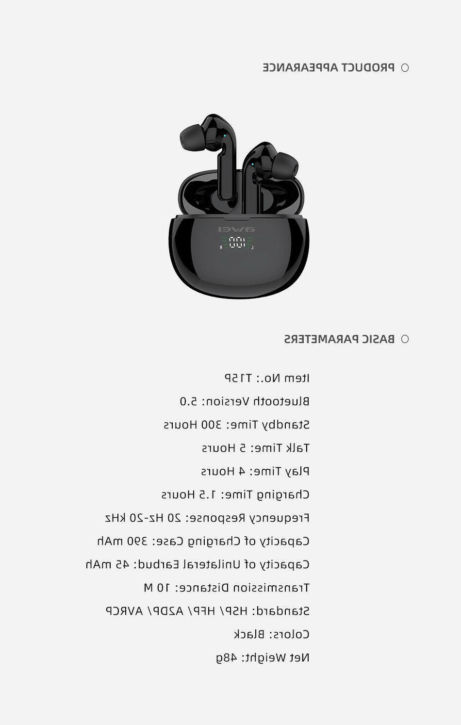 AWEI Bluetooth Headphones Waterproof IPX5