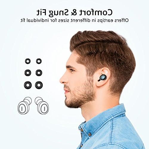 Mpow T2 TWS True Wireless Earbuds, Mini Playtime Bluetooth Phone