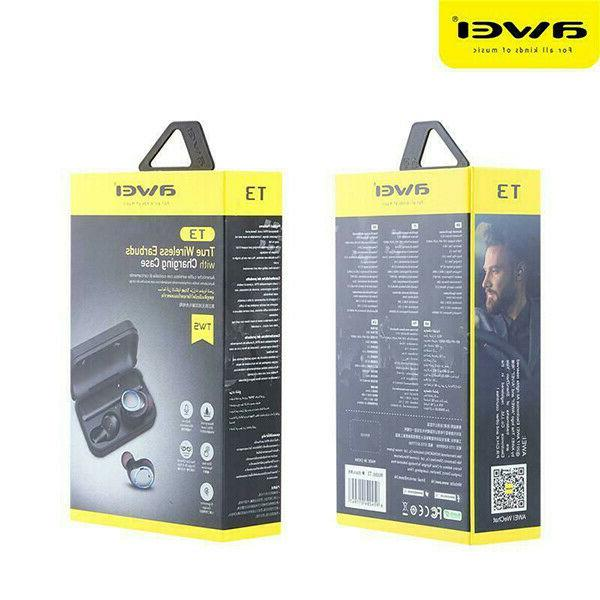 Awei T3 Bluetooth Earbuds with IPX4 Waterproof