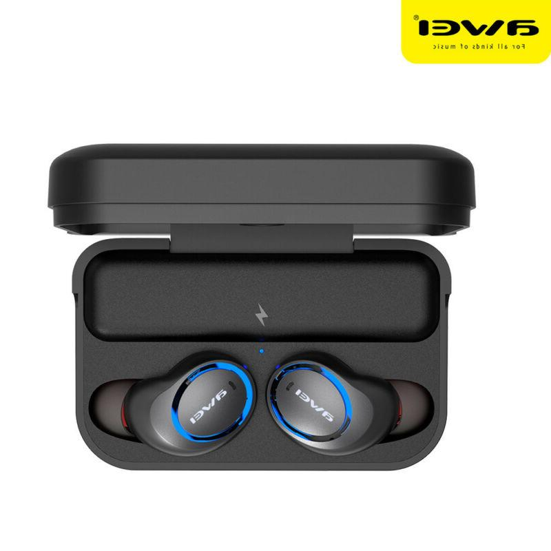 AWEI T3 Twins Earbuds Earphone 5.0 Headphone With Charging Mini