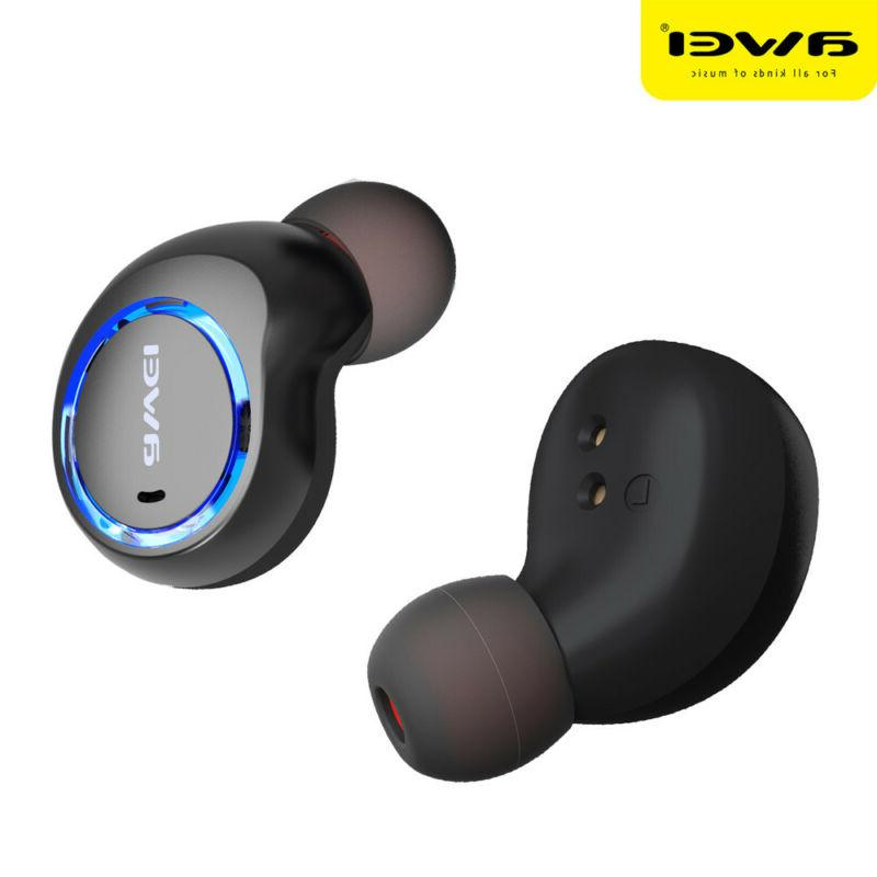 AWEI T3 Twins Earbuds Headphone With Charging Mini