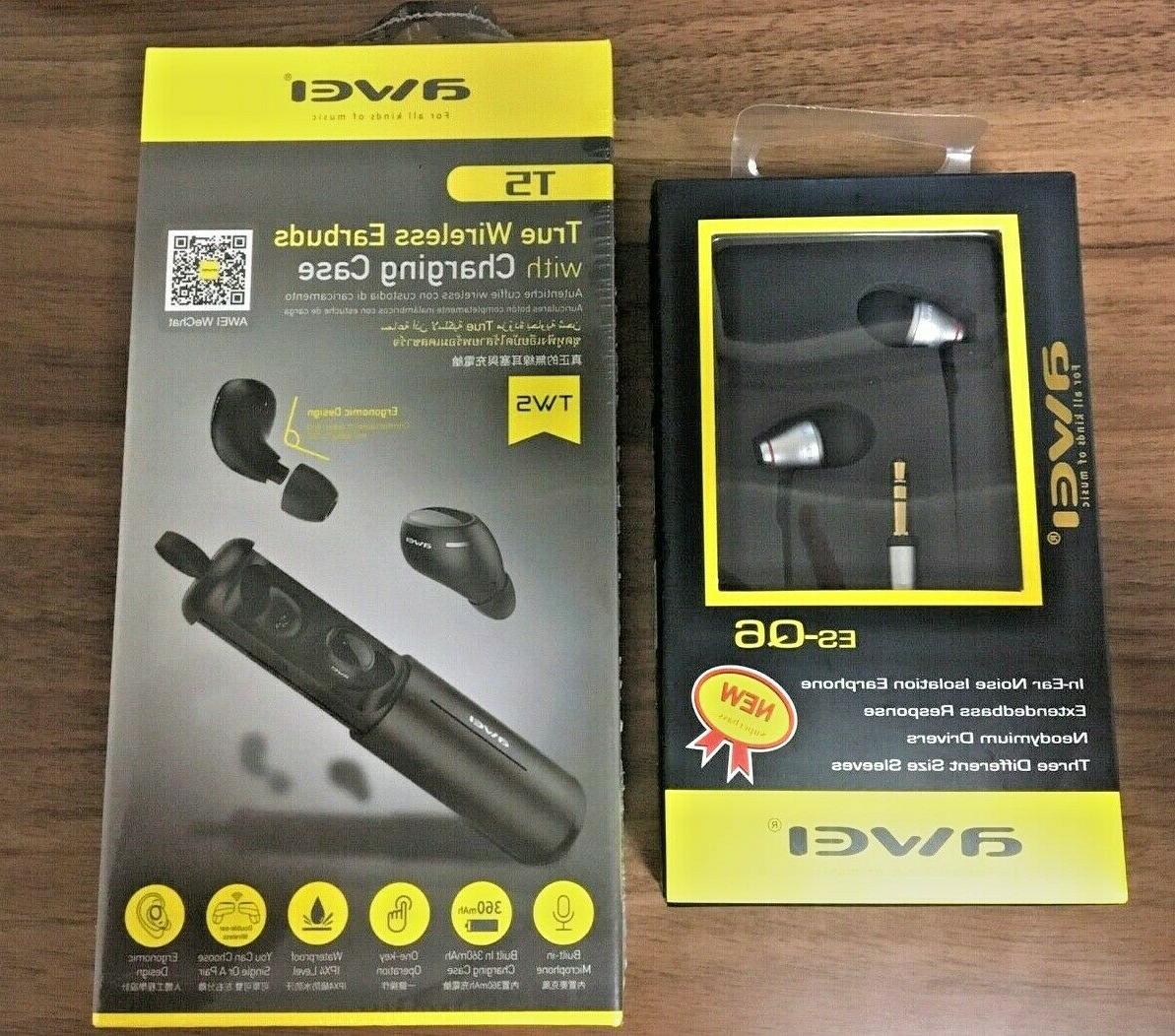 t5 true wireless earbuds with charging case