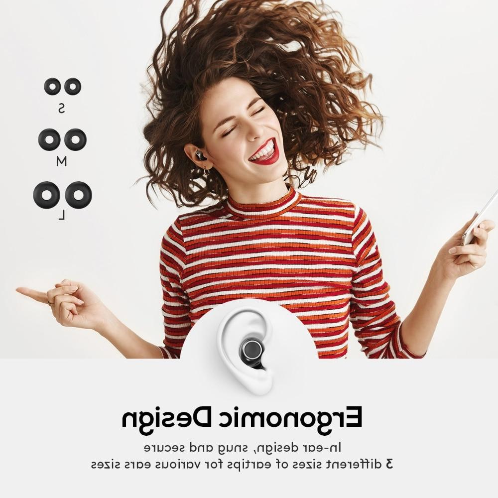 TOP T6 <font><b>Earbuds</b></font> Control <font><b>Bluetooth</b></font> Headphones 3D Stereo Earphones Mic&Charging