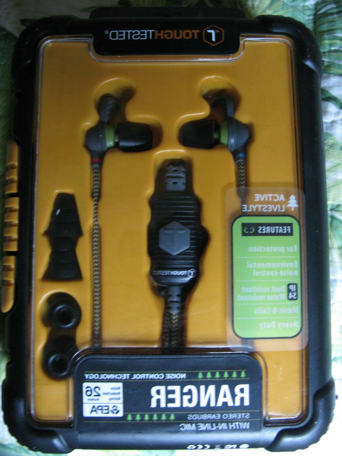 ToughTested Ranger earbuds with in-line wired wireless
