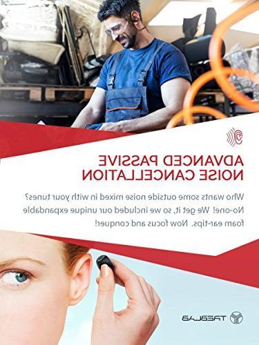 TREBLAB XR500 Best Earbuds for Sports, or Gym Workout. IPX7 Sweatproof, Headset. Noise w/ Mic