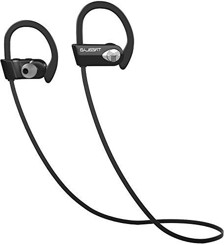 TREBLAB Bluetooth Best Wireless Earbuds Sports, Workout. Version. IPX7 Headset. Noise Cancelling Earphones w/