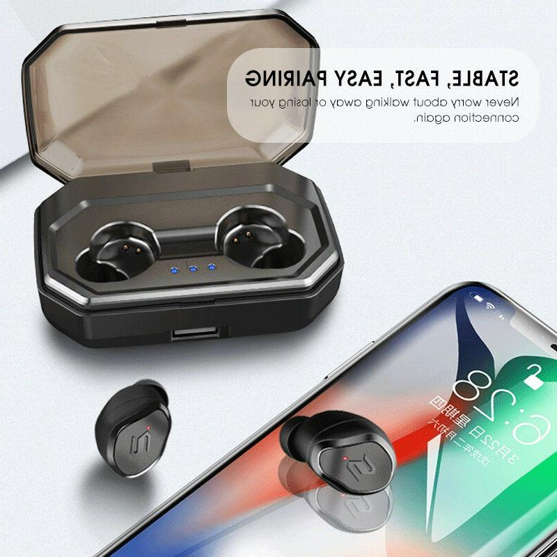 True Wireless 5.0 Earbuds Sports Noise Canceling IPX6