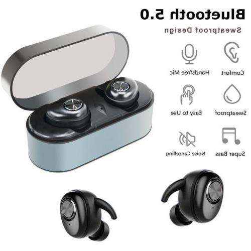 True Wireless 5.0 Earbuds TWS Noise Cancelling Sports Bass Headset