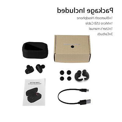 True Wireless Bluetooth Earbuds Dual Stereo Noise