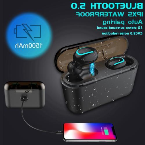 true wireless bluetooth5 0 headset sports earbuds