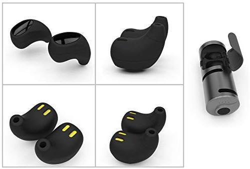 CLEVER Earbuds, 3 in Built and Bank, IPX5 Waterproof, Hi-Fi Sound, in Ear Sport Earphones