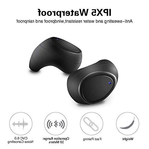 CLEVER Earbuds, in Touch TWS Built in Bluetooth and Bank, IPX5 Waterproof, Sound, in Ear Sport Earphones