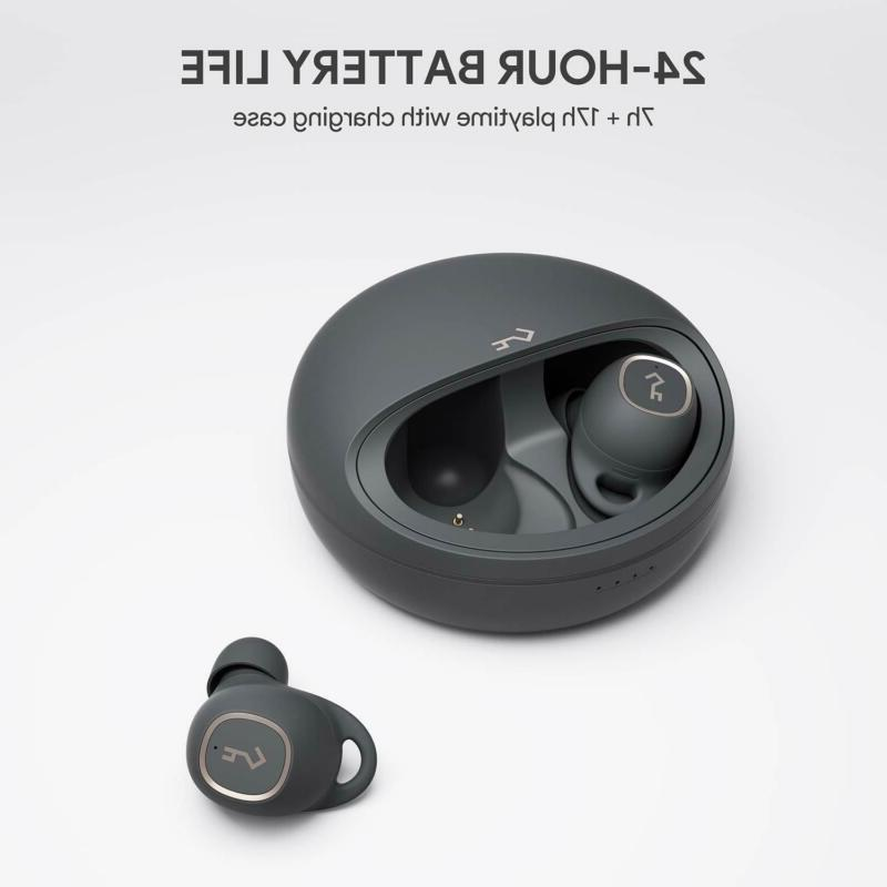 AUKEY Earbuds, 7h + 17h Case, Super
