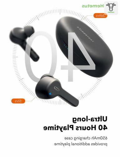 True Wireless TaoTronics Bluetooth Headphones in-Ear...