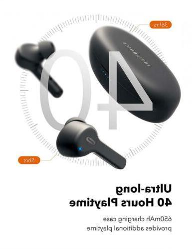 True TaoTronics Bluetooth Headphones V5.0 in-Ear...