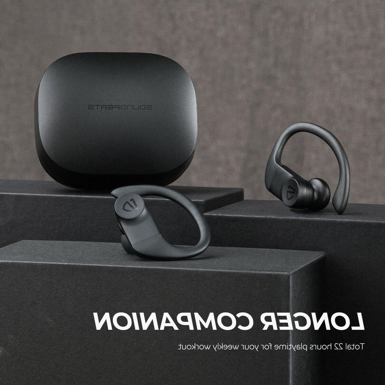 SoundPEATS Earbuds Over-Ear Hooks Bluetooth Stereo Earphones