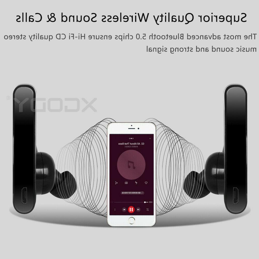 True Wireless Earbuds Headset 5.0 Stereo Sports Headphone W/MIc