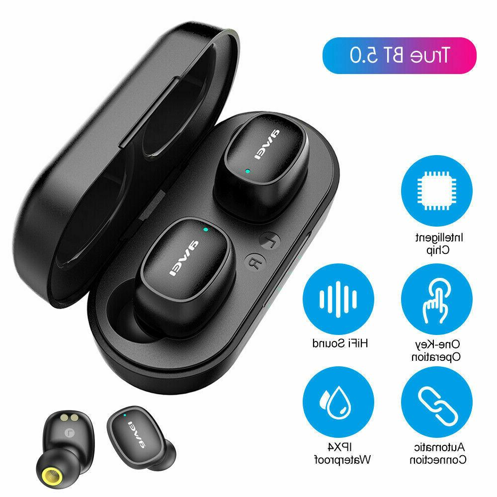 true wireless sports earbuds with charging case