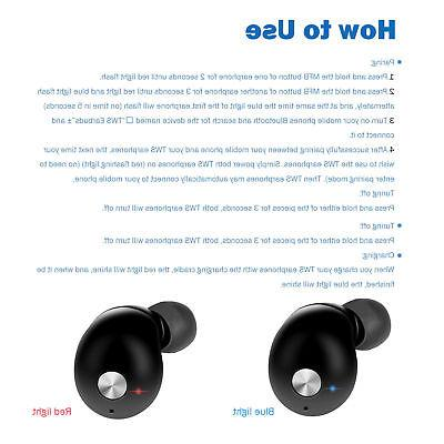Mini Bluetooth Earbuds Earphones Headset