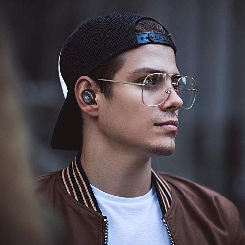 SoundPEATS TrueFree Wireless Earbuds in-Ear Stereo Headphones Microphone Hours Playtime, One-Step