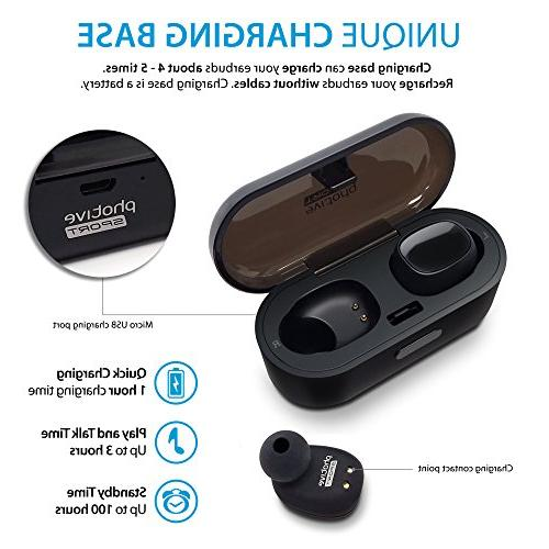 Photive TWS-01 True Wireless Earbuds Stereo with Sound - Easy