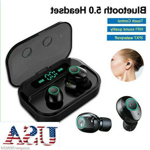 tws bluetooth 5 0 headset wireless earphones