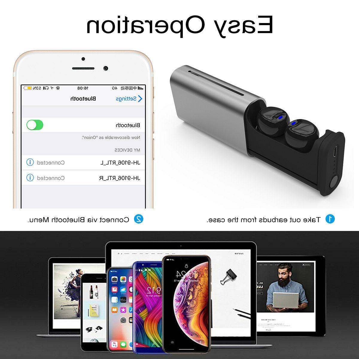 TWS bluetooth Wireless HD Earbuds US