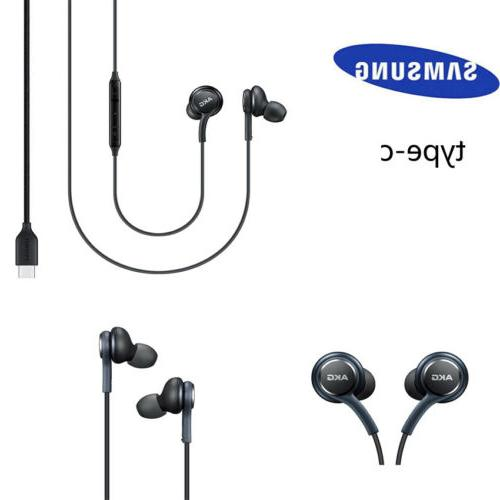 Type-c USB Earbuds Wired In-ear Headphones Samsung Note 10