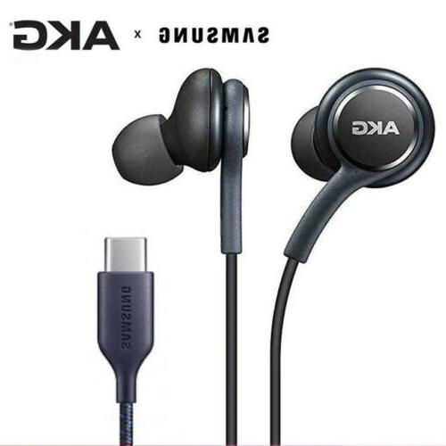 type c earphones usb akg earbuds wired