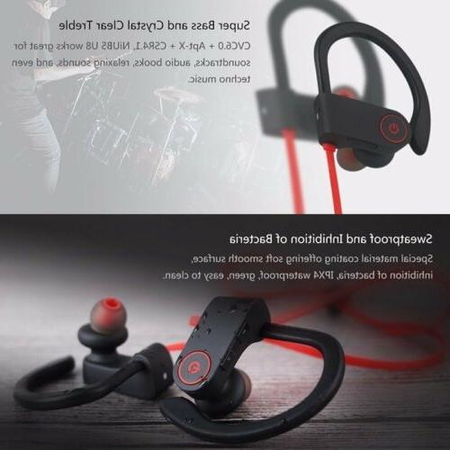 Bluetooth Earbuds Best Wireless Headphones Sports iPhone 8 x Samsung