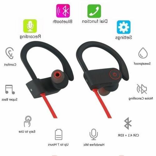 Bluetooth Earbuds Wireless Headphones Running iPhone 8 x
