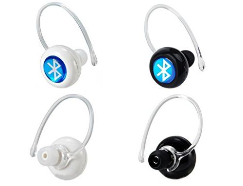 Mini Wireless Bluetooth Hnads free Earphones Earbuds Earpiece for Motorola Android Phones, White