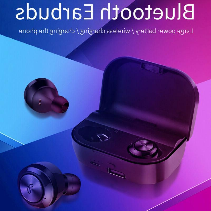 Universial Waterproof Wireless Earbuds HD Stereo Headphones Headsets