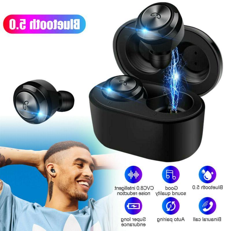 universial waterproof wireless bluetooth earbuds hd stereo
