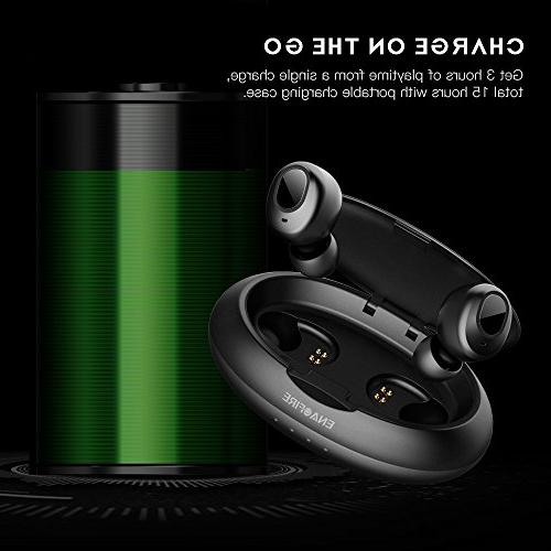 b79e14dd47d Upgraded Wireless Earbuds, ENACFIRE Wireless Bluetooth 15H Playtime Deep  Bass HiFi Stereo Built-in