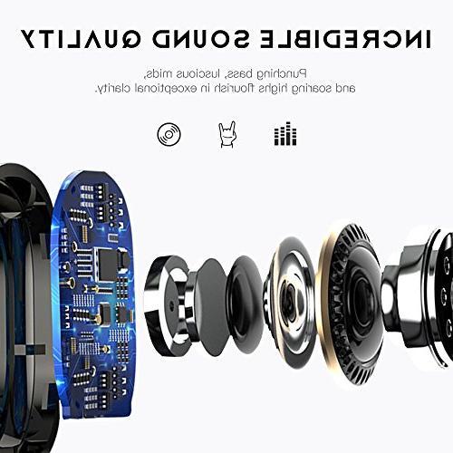 98282f74d1a Upgraded Bluetooth 5.0 Wireless Earbuds, E19 True Wireless Bluetooth 15H  Playtime HiFi 3D Built-