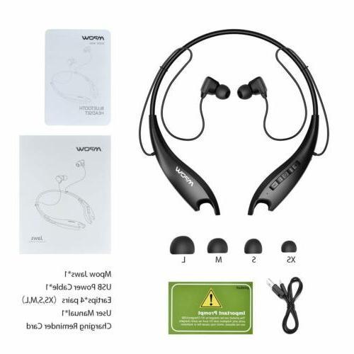 Mpow Upgraded Jaws Gen-5 Bluetooth Headset w/