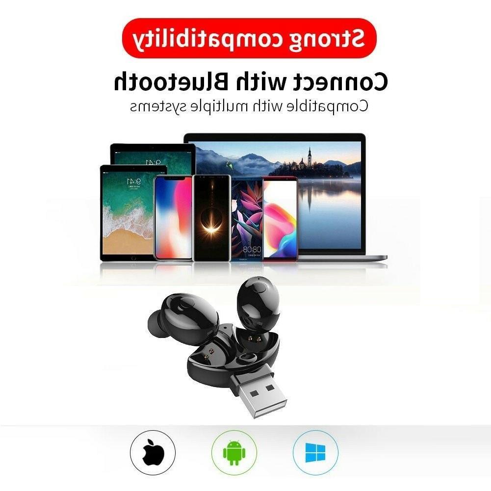 US Bluetooth 5.0 Headset TWS Earphones Stereo In-Ear Headphones