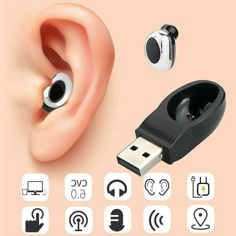 USB Mini Wireless Earbuds In-Ear Stereo Sport Headset 2019