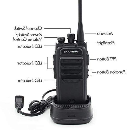 Winmoom range rechargeable Two-Way with Earpiece 16 with Group Radio,UHF 2.5 Miles Range