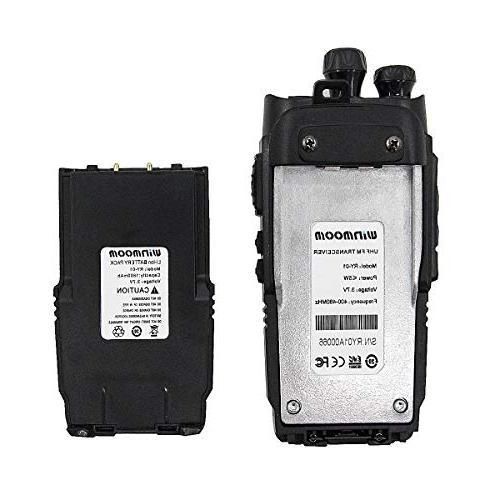 Winmoom walkie talkies range rechargeable Two-Way 16 with Radio,UHF 400-480MHz Miles Range