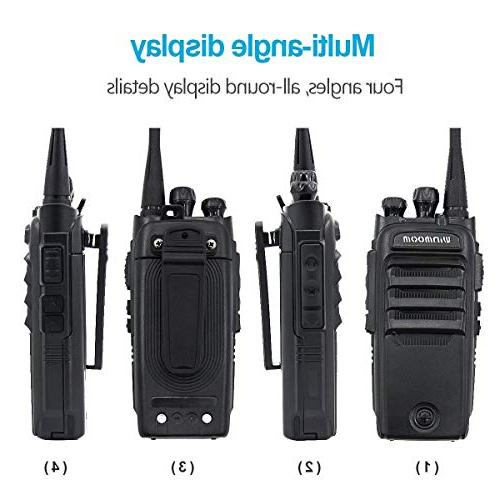 Winmoom range rechargeable Two-Way Radios with 16 Wireless Intercom with Button Protable Radio,UHF 400-480MHz with Miles Range