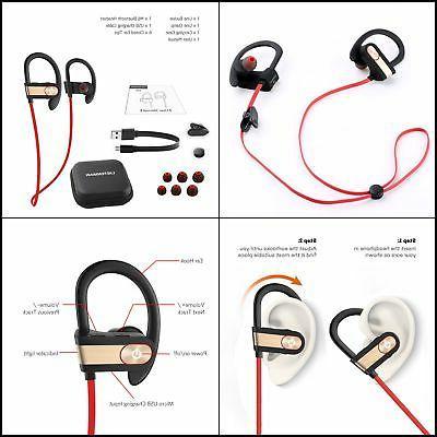 Waterproof Earbuds Sports Ear Headset NEW