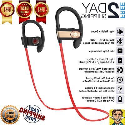 Waterproof Bluetooth Earbuds Beats Sports Wireless Headphones