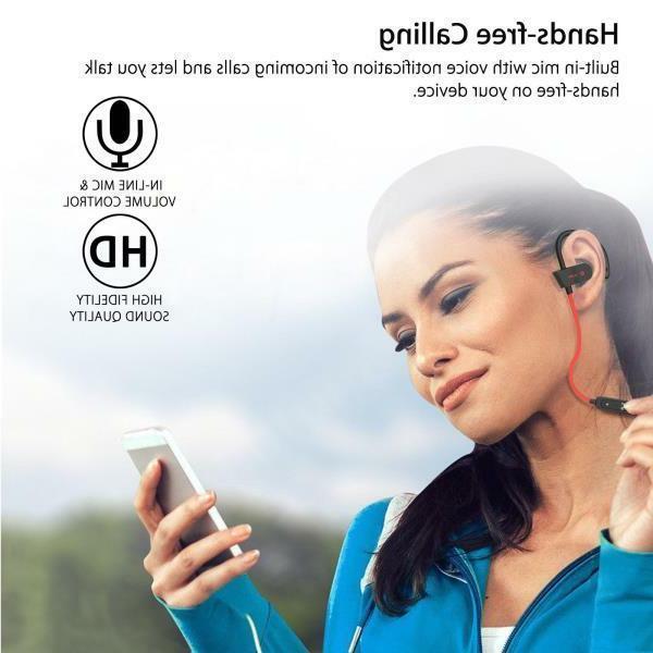 Sweatproof Bluetooth Wireless Ear Headset