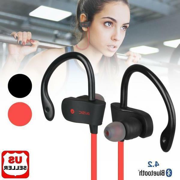 Sweatproof Bluetooth Earbuds Wireless Headphones in Headset NEW