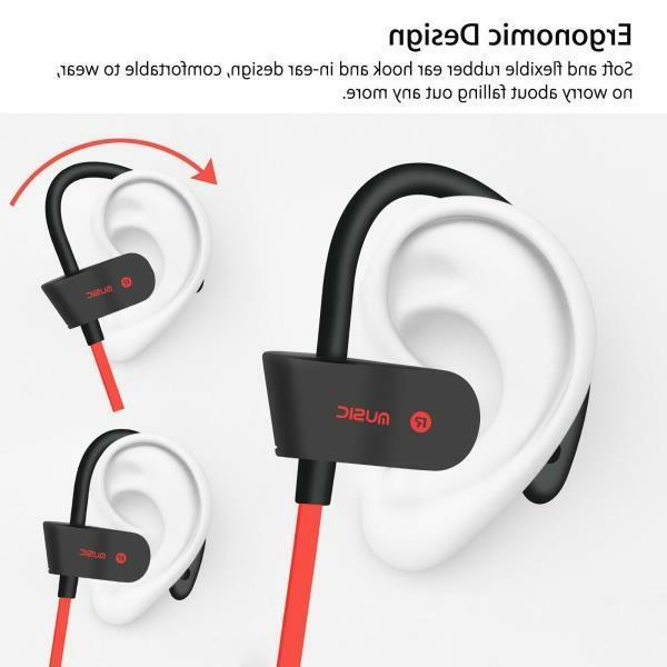 waterproof bluetooth earbuds sports wireless headphones in