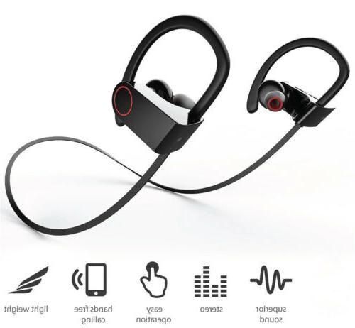 0fb04296c61 Waterproof Bluetooth Earbuds Wireless Earphones Beats Gym Running